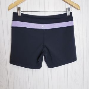 Lululemon Reversible Stripe Groove Biker Shorts